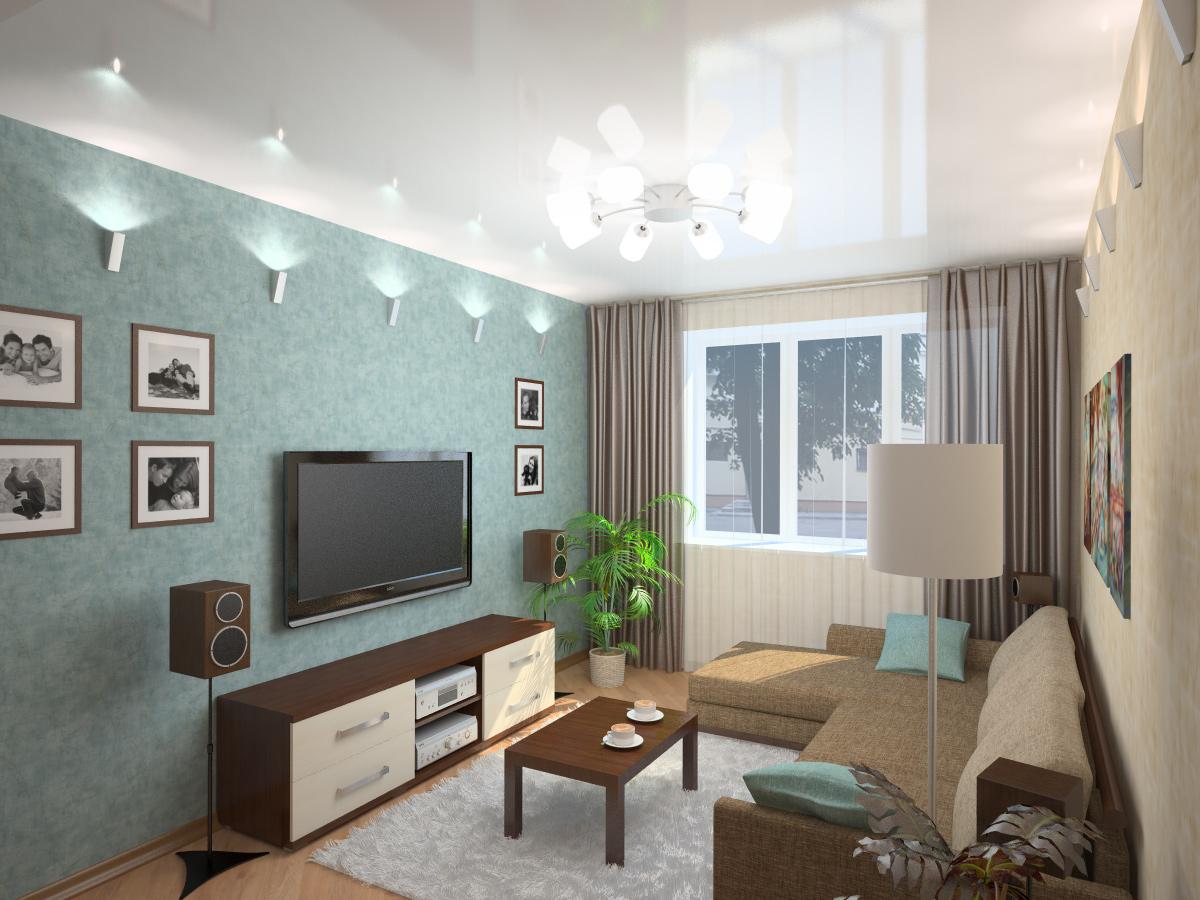 Дизайн гостинной 17 метров